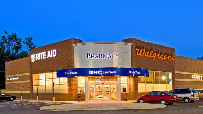 Photo Collage. Walgreens and Rite Aid Merger.
